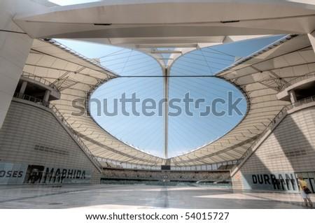DURBAN - APRIL  5: the Moses Mabhida stadium of Durban, april 5, 2010 Durban, South Africa - stock photo