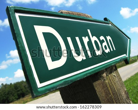 Durban road sign - stock photo