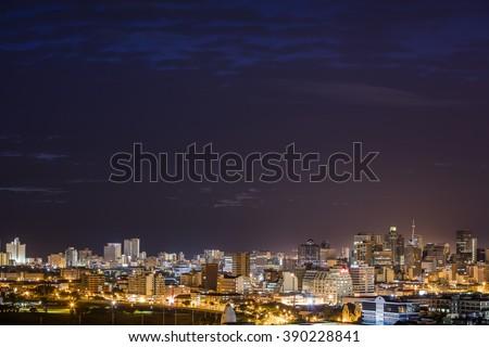 Durban, South Africa city skyline - stock photo