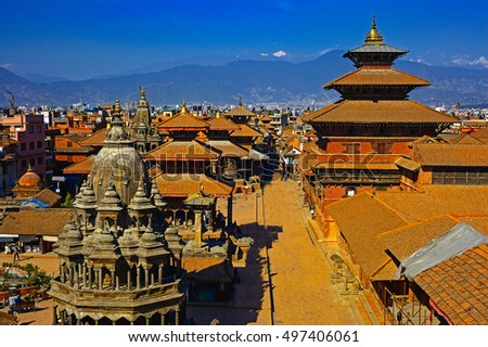 Durbar square in taken in Old city  Kathmandu, Nepal