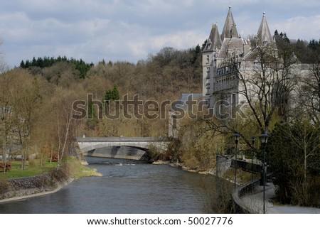Durbuy Castle in Belgium - stock photo