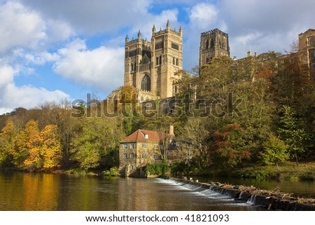 Durham Cathedral and River Wear in Autumn