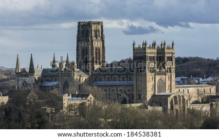 Durham Cathedral on a cold winters day