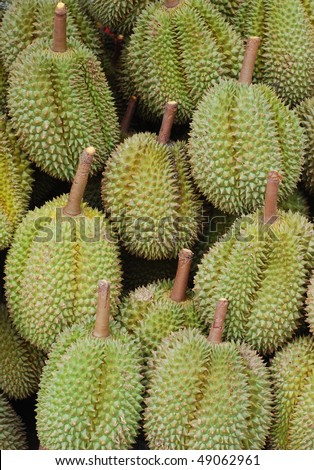 durian at a market
