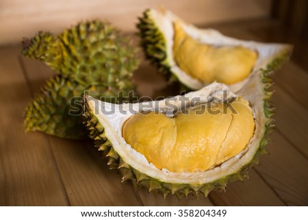 Durian fresh and ripe - stock photo