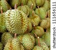 Durian, king of fruit, famous fruit in Thailand - stock photo