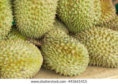 Durian, King of fruit in Asian. Its smells strong but taste very sweet