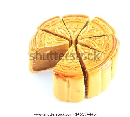Durian Monthong Mooncake - stock photo