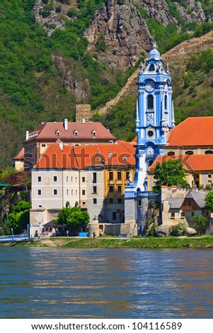 Durnstein is one of the most visited tourist destinations in the Wachau region. - stock photo