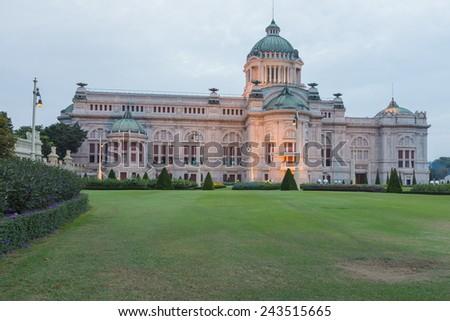 Dusit Palace, Ananda Samakhom Throne Hall. Bangkok Thailand - stock photo