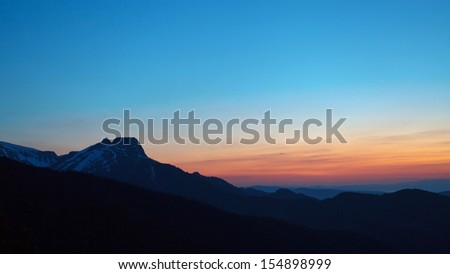 Dusk at Tatra mountains, Poland