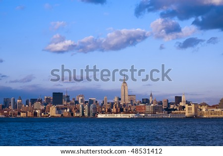 Dusk in NYC - stock photo