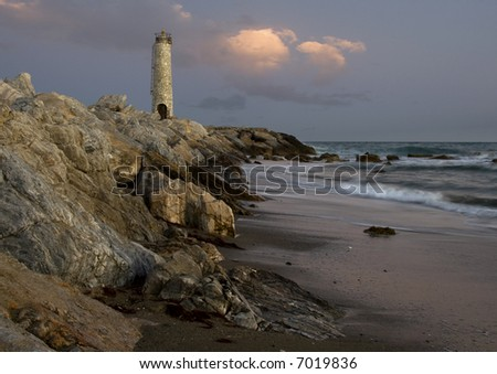 Dusk on Beach near St Pedro - stock photo