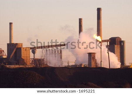 Dusk over Steel mill