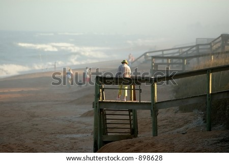 Dusk Stroll - stock photo