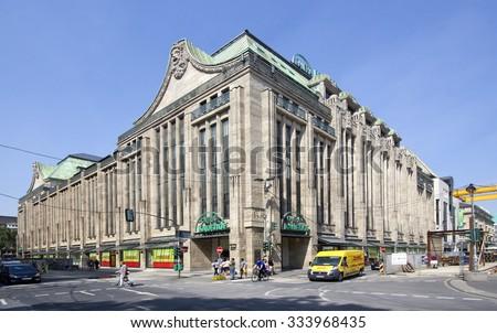 Dusseldorf, Germany - August 22, 2013: The Kaufhof department store in Dusseldorf, Germany on  August 22, 2013. - stock photo