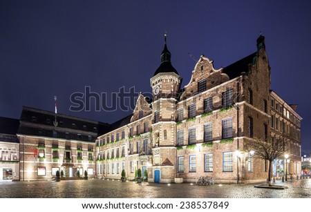 Dusseldorf rathaus or city hall plaza  - stock photo