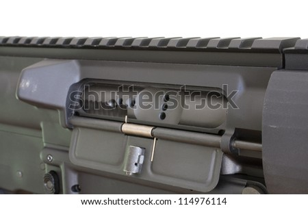 Dust cover on the chamber on a modern semi automatic rifle