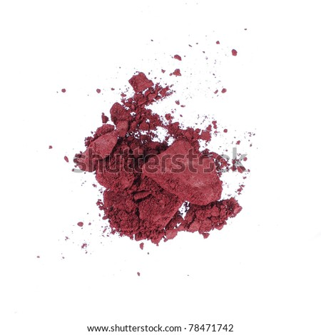 Dust of a make-up face powder. isolated over white