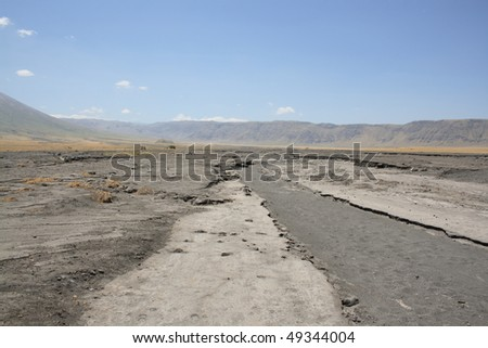 dust road in Africa - stock photo