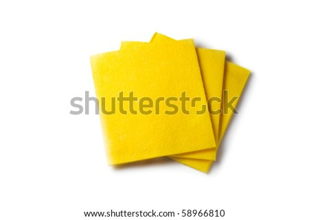 Dusters isolated on the white background