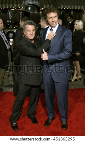 Dustin Hoffman and Will Ferrell  at the Los Angeles premiere of 'Stranger Than Fiction' held at the Mann Village Theatre in Westwood, USA on October 30, 2006.  - stock photo