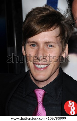 Dustin Lance Black  at the Focus Features World Premiere of MILK, The Castro Theatre, San Francisco, CA. 10-28-08 - stock photo