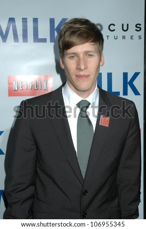 Dustin Lance Black  at the Los Angeles Premiere of 'Milk'. Academy of Motion Pictures Arts And Sciences, Beverly Hills, CA. 11-13-08 - stock photo