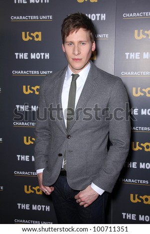 """Dustin Lance Black at USA Network and Moth present """"A More Perfect Union: Sories of Prejudice and Power,""""  Pacific Design Center, Los Angeles, CA 02-15-12 - stock photo"""