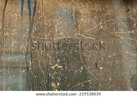 dusty and dirty glass texture - stock photo