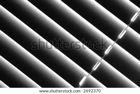 Dusty blinds - stock photo