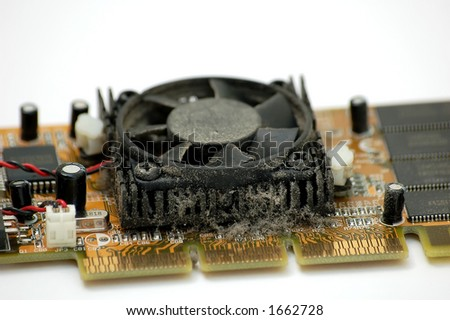 Dusty graphic card (Not noise, dust) - stock photo