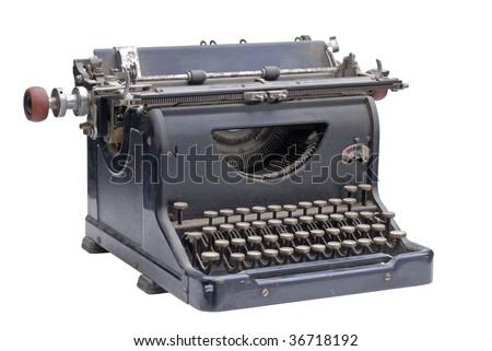 Dusty old typewriter - stock photo
