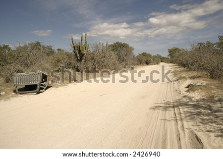 Dusty road in mexico