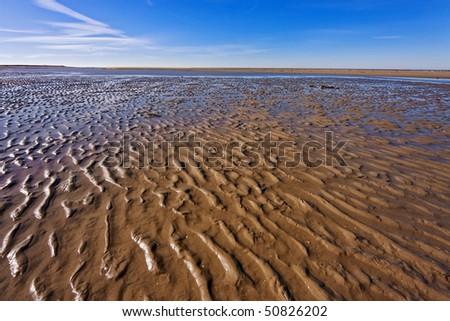 Dutch beach - stock photo