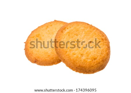 Dutch butter cookies isolated - stock photo