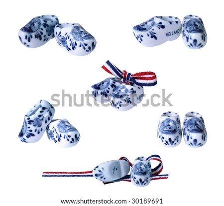 Dutch clogs (shoes) - stock photo