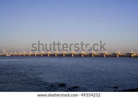 Dutch Delta Works - stock photo