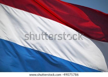 Dutch flag, close-up - stock photo