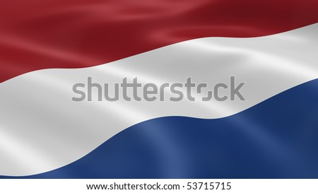 Dutch flag in the wind. Part of a series.