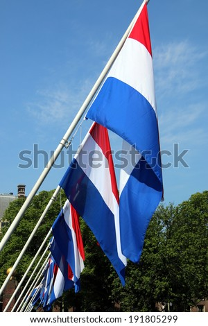 Dutch flags during Liberation Day