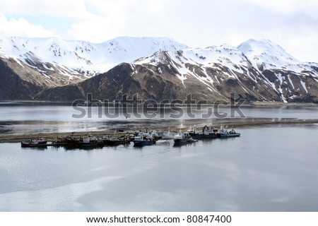 Dutch Harbor Alaska - stock photo