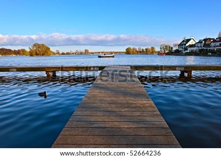 Dutch lake - stock photo