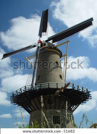 dutch mill - stock photo