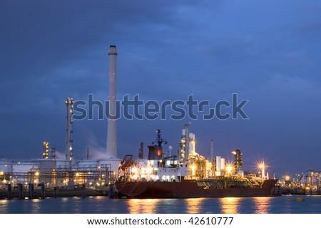 Dutch oilrefinery - stock photo