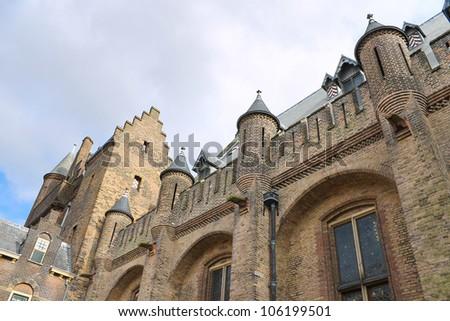 Dutch Parliament. Ridderzaal, the Hague. Den Haag. Netherlands - stock photo