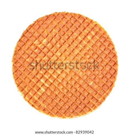 Dutch Waffle - stock photo