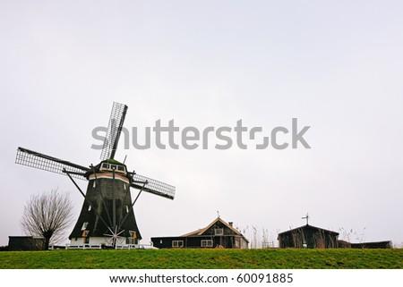 Dutch windmill - stock photo