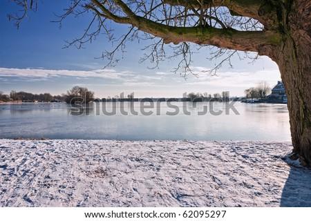 Dutch winter - stock photo