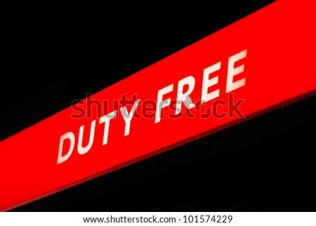 duty free neon - stock photo